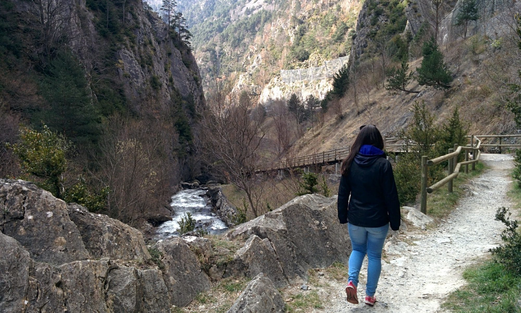 Walking to Andorra la Vella