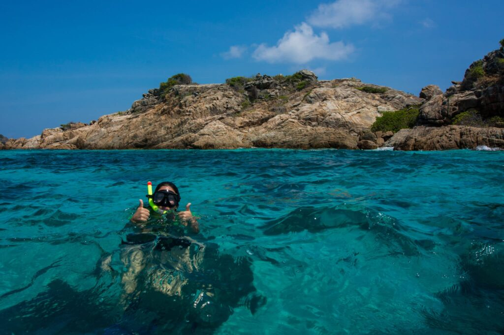 Snorkelling near Perhentian Islands, Malaysia