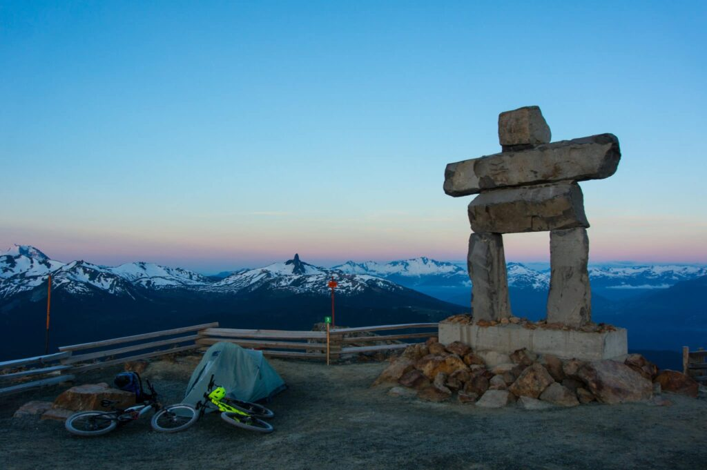 Camping on Whistler Mountain