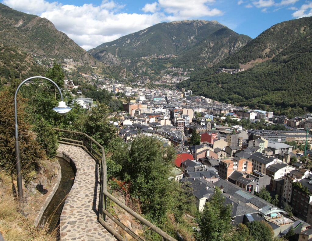Looking down on Andorra la Vella from the Rec del Solà