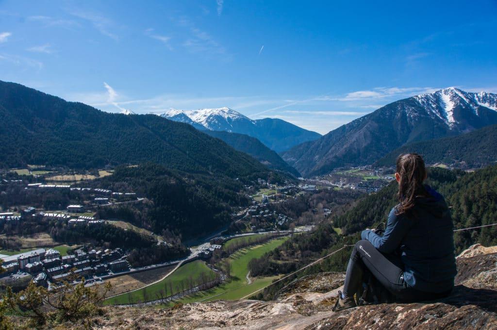 Jess overlooking La Massana, Andorra