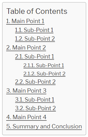 Great blog post heading structure