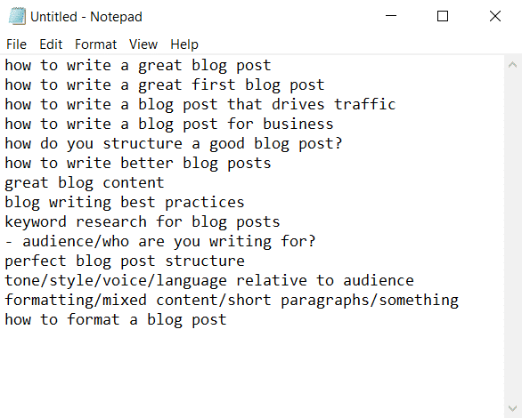 I use my keyword research to craft the perfect blog post structure
