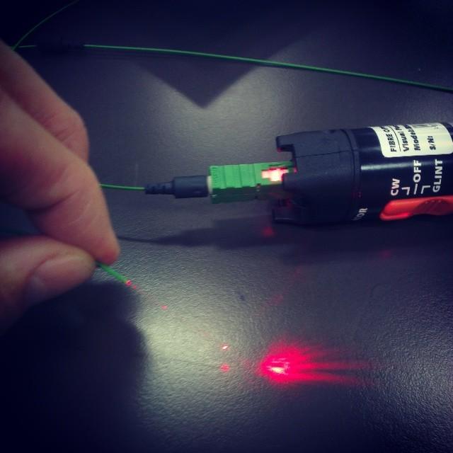 Splicing fiber
