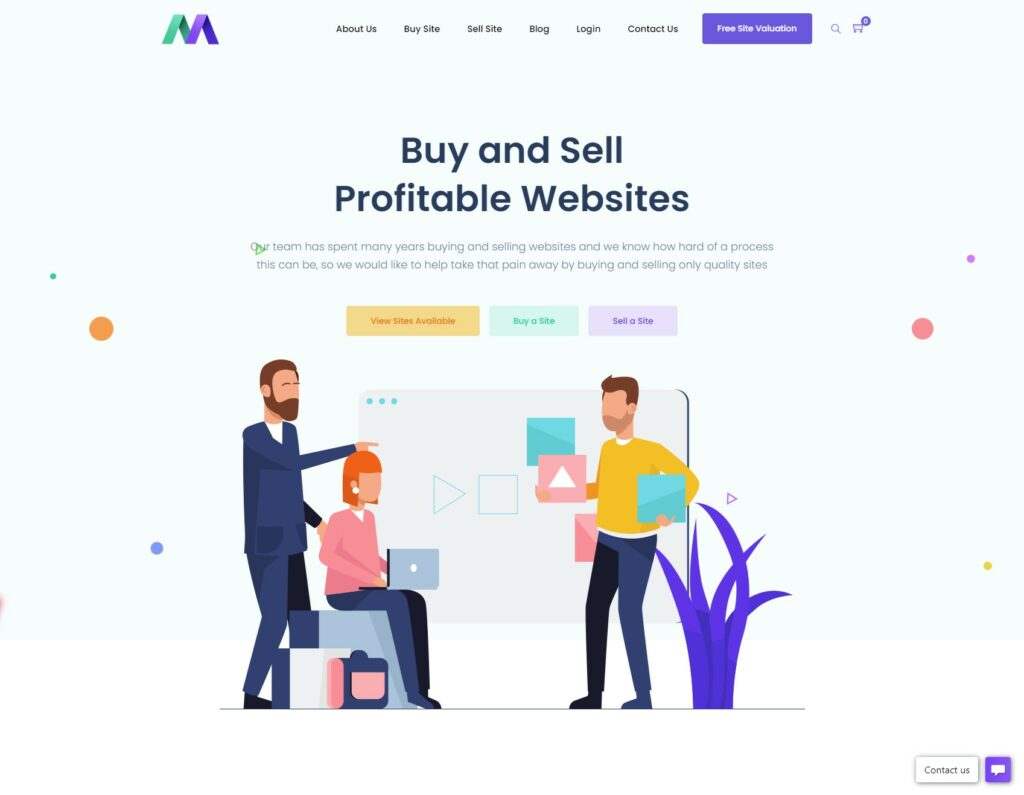 Buy and sell profitable websites