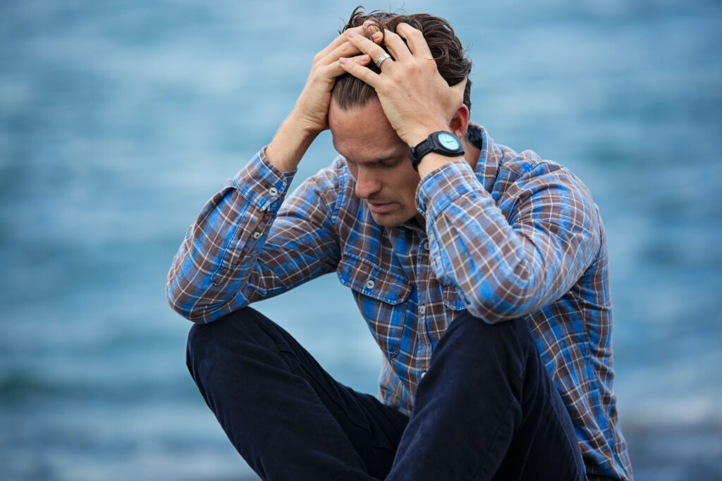 Man stressed out about having too many sources of passive income.