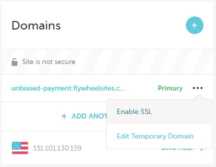 Enabling SSL on Flywheel Hosting