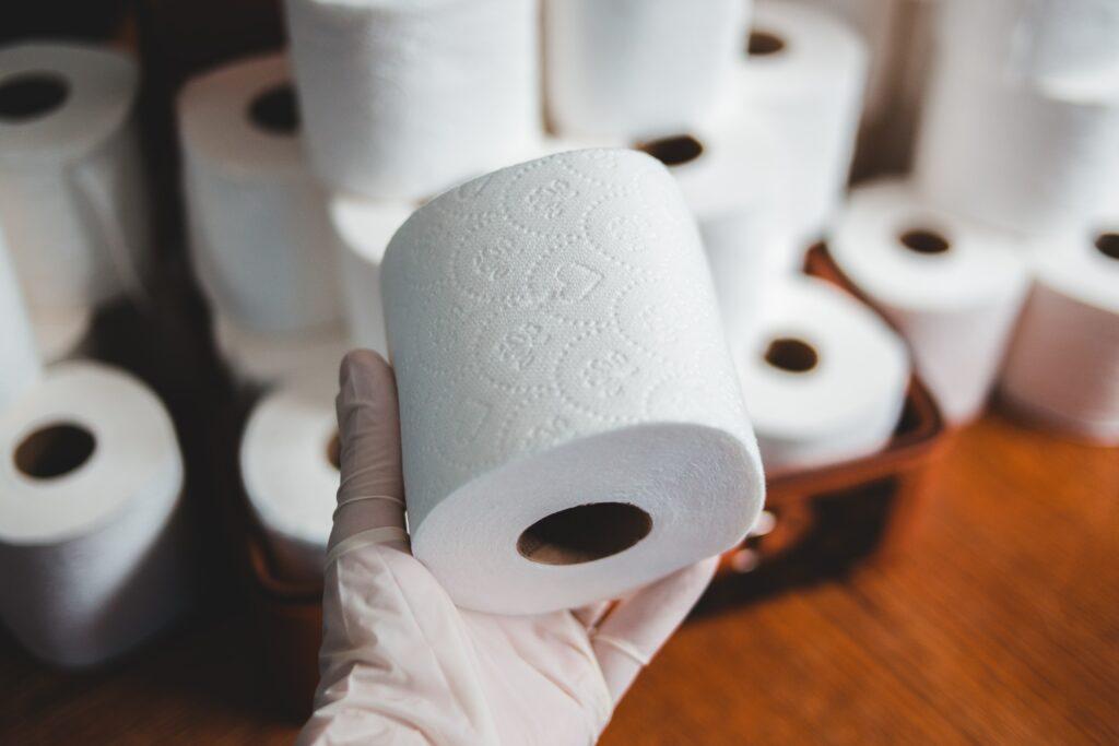 Toilet roll hoarding